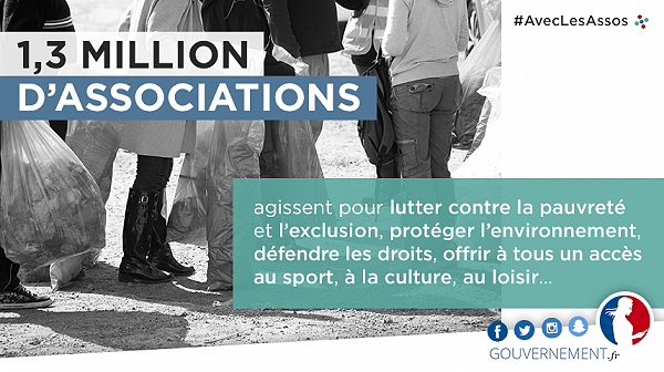 #AvecLesAssoc - 1,3 millions d'associations